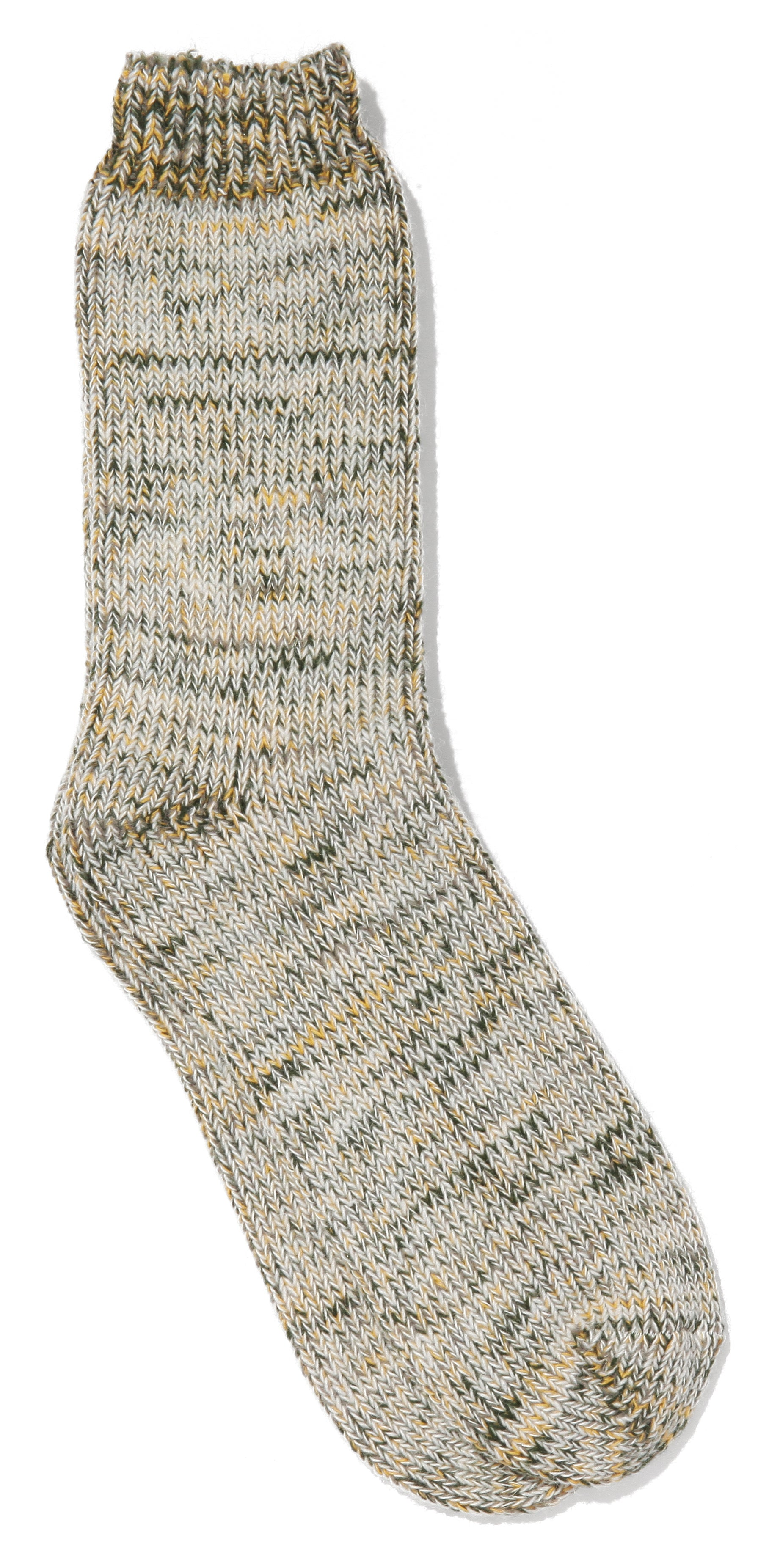 Tri-Color Wool Crew Socks