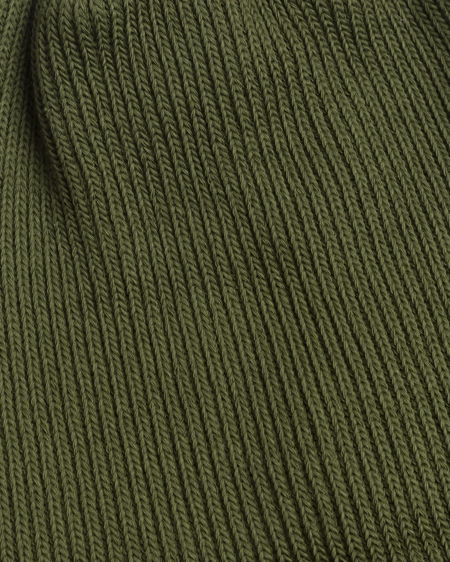 General Admission / Druthers - Organic Cotton Rib Knit Beanie - Army Green