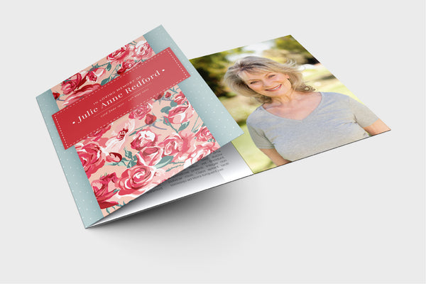 'Daisy Funeral Program Design' - Memory Press specializes in the creation of beautiful & uplifting memorial stationary. They can customise this or any of their other unique designs within 24hrs for just US $99.90