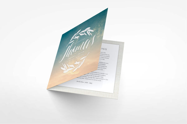 Holly Funeral Program Design