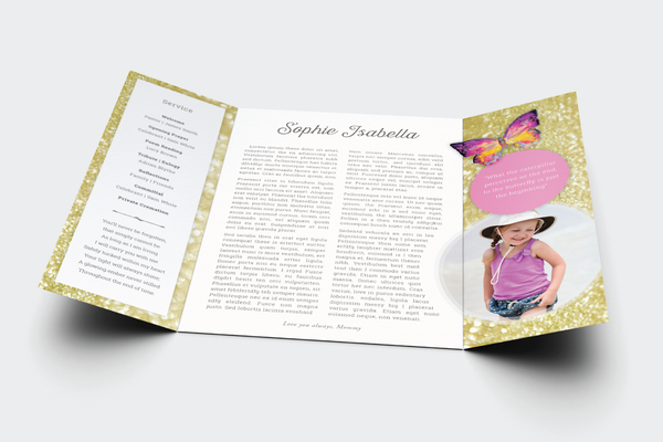 Lavender Funeral Program Design