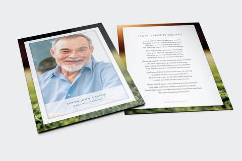 Marigold Funeral Program Design
