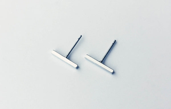 Bar Earrings | Silver - Fleur and Felix - 5