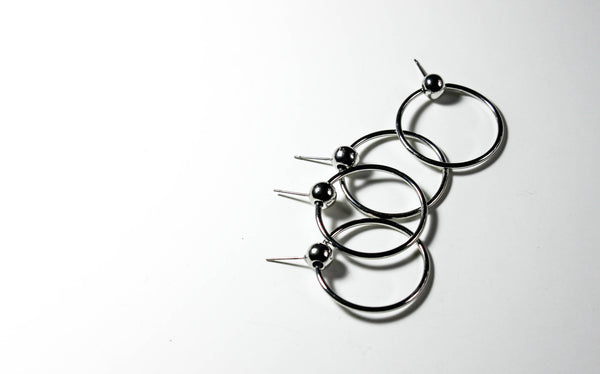 Ecliptic Hoops | Silver