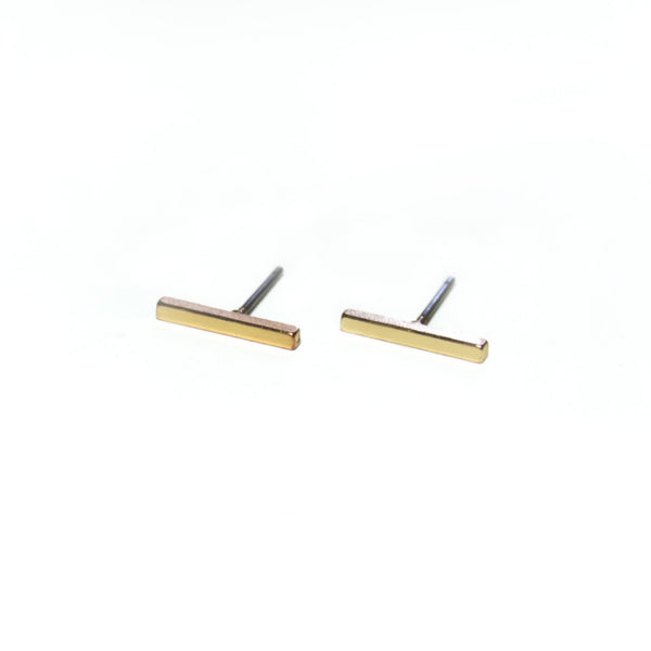 Bar Earrings | Gold - Fleur and Felix - 1