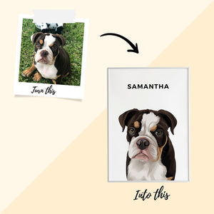 Pet Portrait - Framed Print (1 Pet)