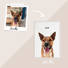 Load image into Gallery viewer, Pet Portrait - Framed Print (1 Pet)