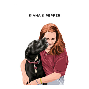 Human + Pet Portrait - Digital Copy