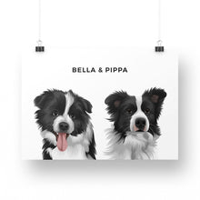 Load image into Gallery viewer, Pet Portrait - Printed Poster (2 Pets)