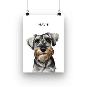 Pet Portrait - Printed Poster (1 Pet)