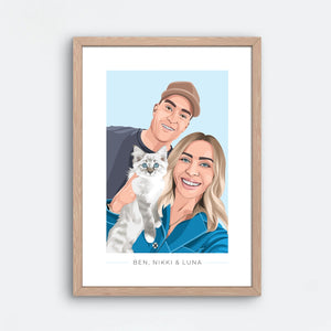 Human + Pet Portrait - Frame