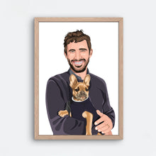 Load image into Gallery viewer, Human + Pet Portrait - Frame