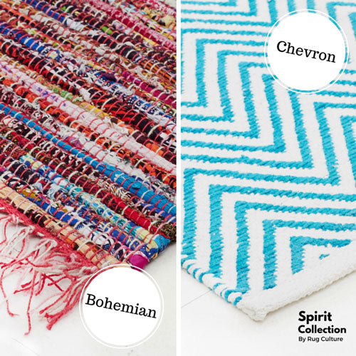 Spirit Range chevron and bohemian