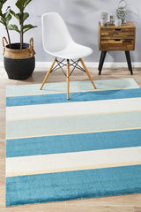 Rug Culture City Modern Blue Bands 555 Rug
