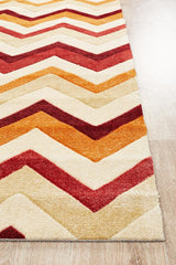 Rug Culture City Stunning Chevron Design 559 Rug Rust Red