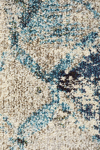 Rug Culture Crystal Maroc Transitional Modern Rug Blue