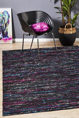 Rug Culture Escape Eliza Stunning Flat Woven Rug Black