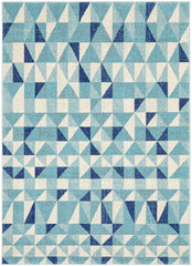 Rug Culture Mirage Illusion Modern Geo Blue Ivory Rug