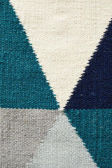 Nomad Pure Wool Flatweave 25 Blue Runner