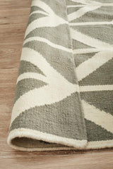 Nomad Pure Wool Flatweave 30 Grey Runner