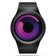 ZIIIRO MERCURY Black Purple Trendy Watch for Men and Women
