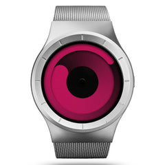 ZIIIRO MERCURY Chrome Magenta Gift Watch for Men and Women