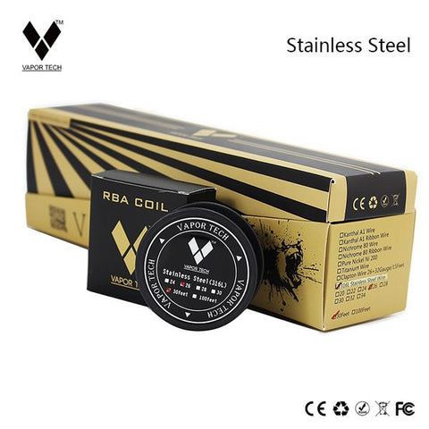 vapor tech rba coil stainless steel wire UK