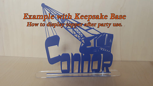 Kneeling Cowboy Cake Topper with Name