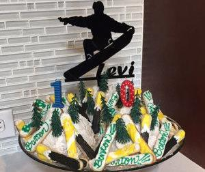 Snowboard Cake Topper with Name