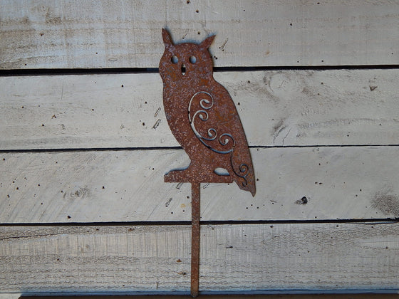 Great Horned Owl Yard Art