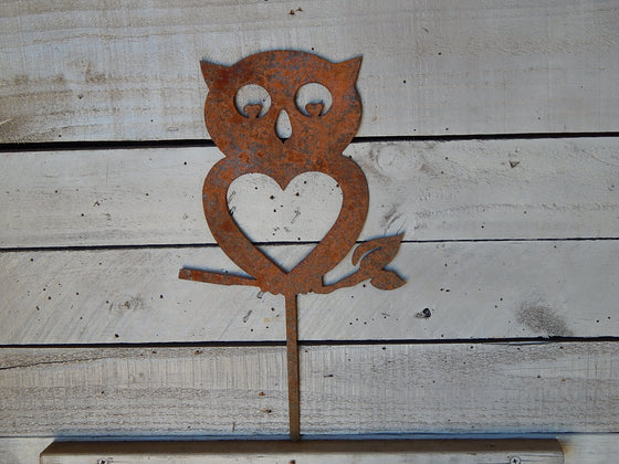 Whimsical Owl Yard Art
