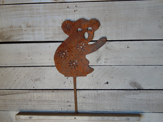 Whimsical Koala Bear Yard Art