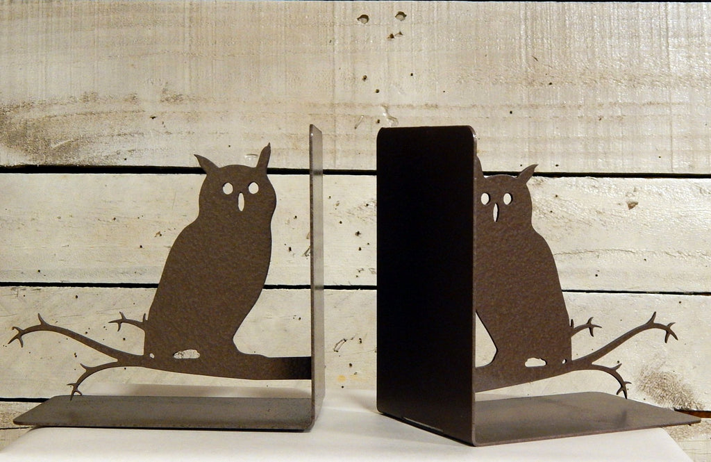 Owls on Branch Bookends