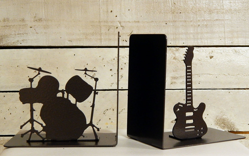 Guitar and Drums Bookends