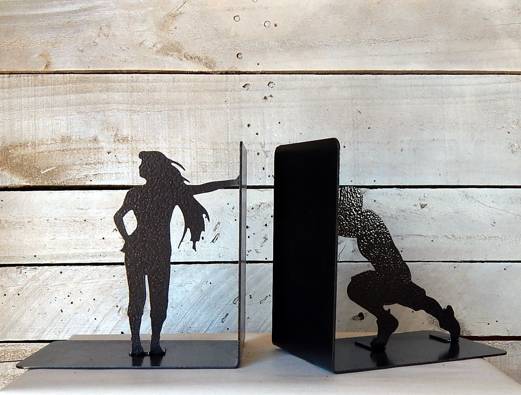 Man and Woman Bookends
