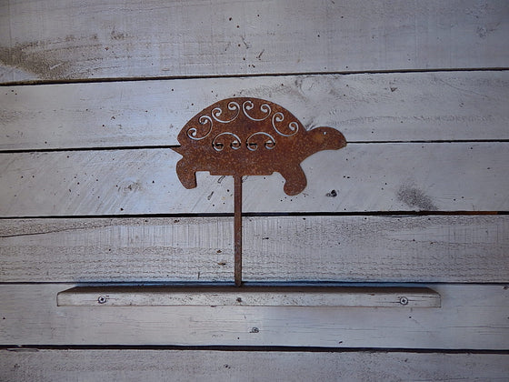 Turtle Yard Art - Rusty