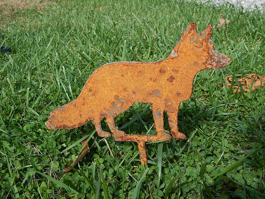 Fox Yard Art - Rusty