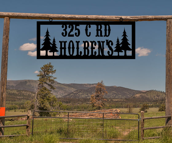 Ranch Address Sign