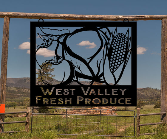 Vegetable Farm Sign, Produce Sign