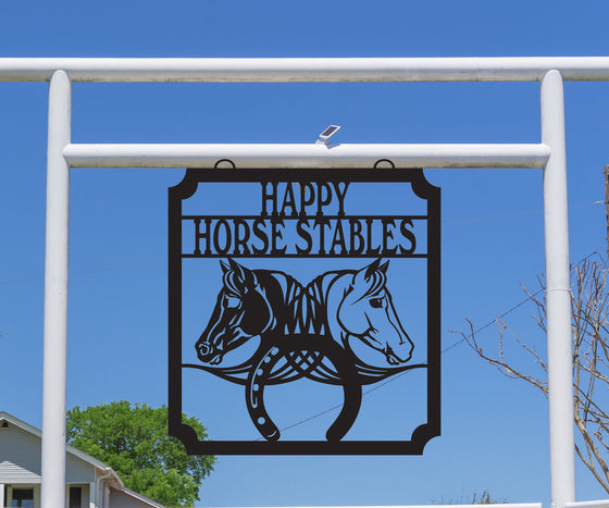Horse Stable Sign, Horseshoes
