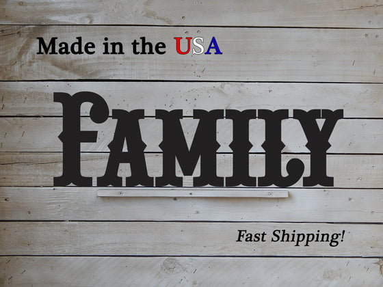 6 Piece Metal Family Sign