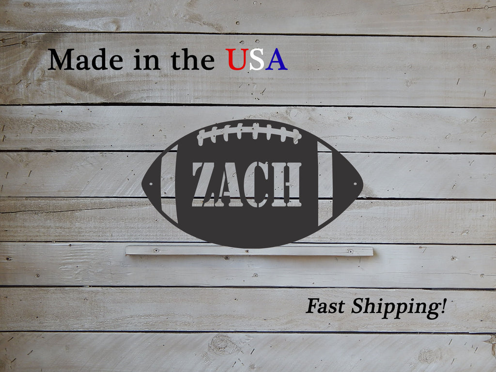 Personalized Football Name Sign
