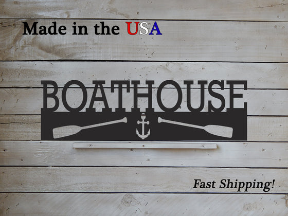 Boathouse Metal Sign