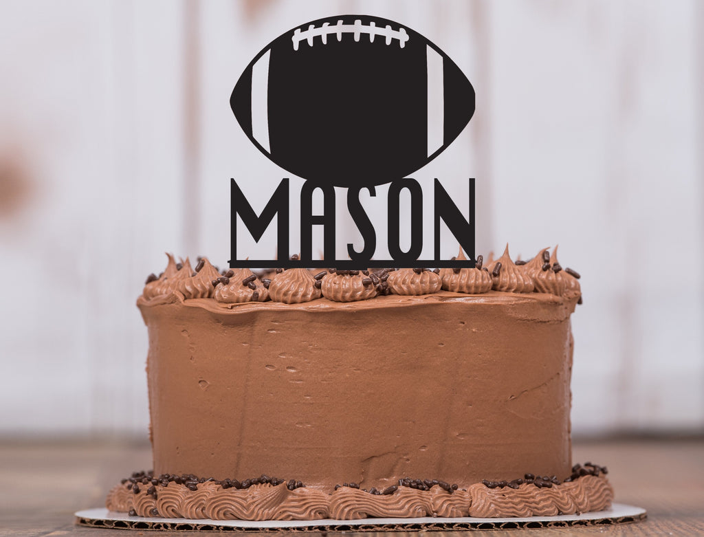 Football Cake Topper with Name