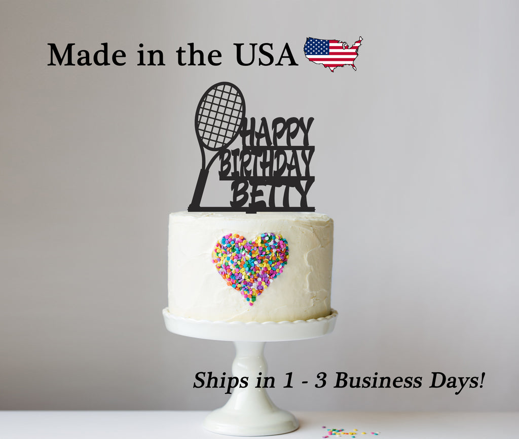 Tennis Cake Topper with Name