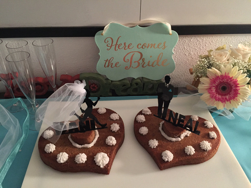 Runner's Cake Topper with Name