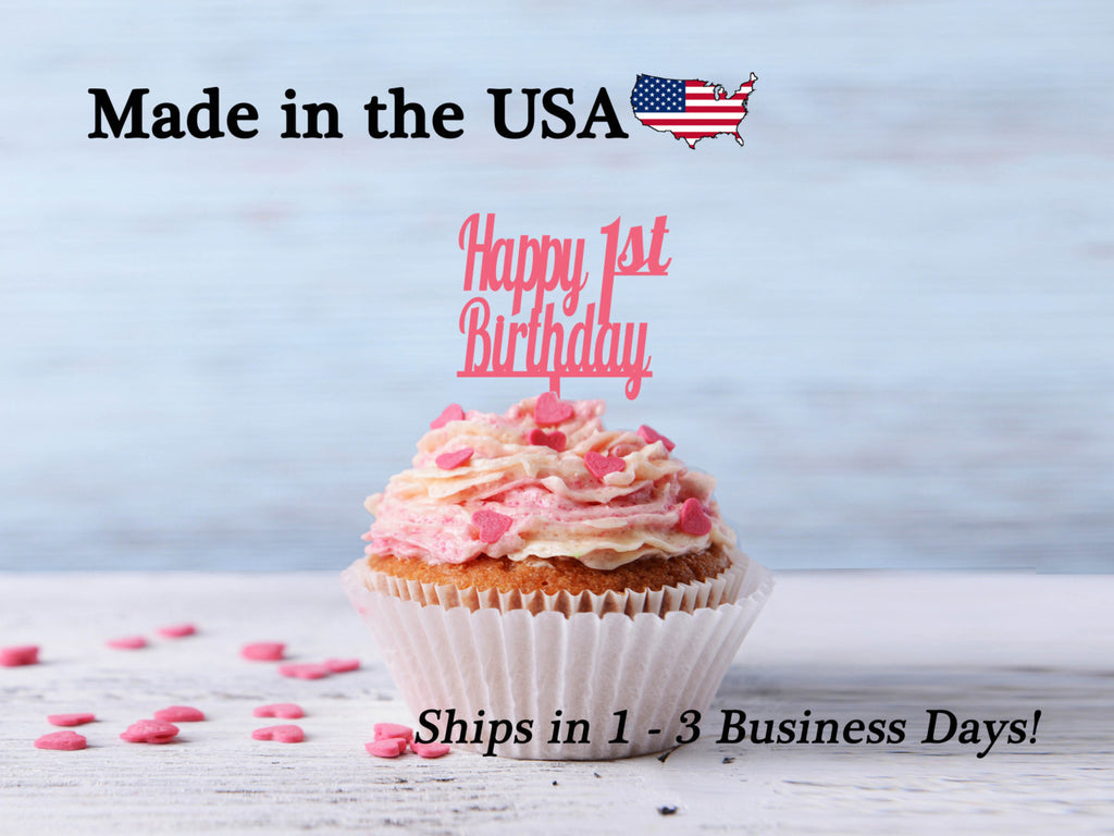 Happy Birthday Cupcake Toppers, Any Age