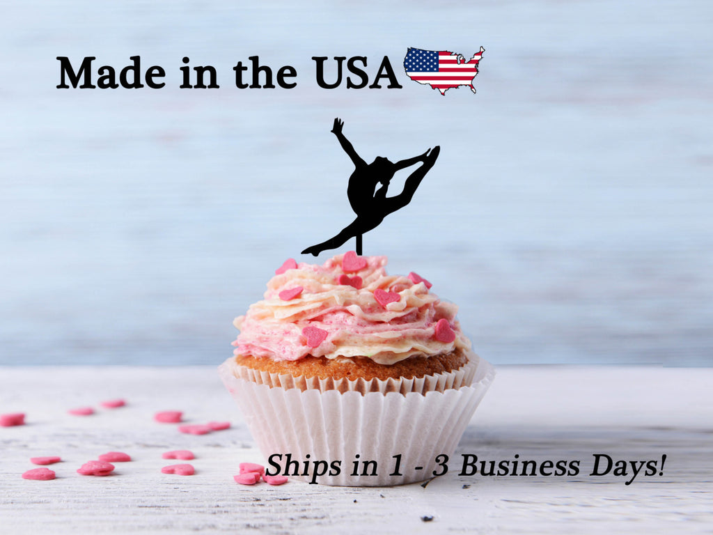 Female Gymnastics Cupcake Toppers