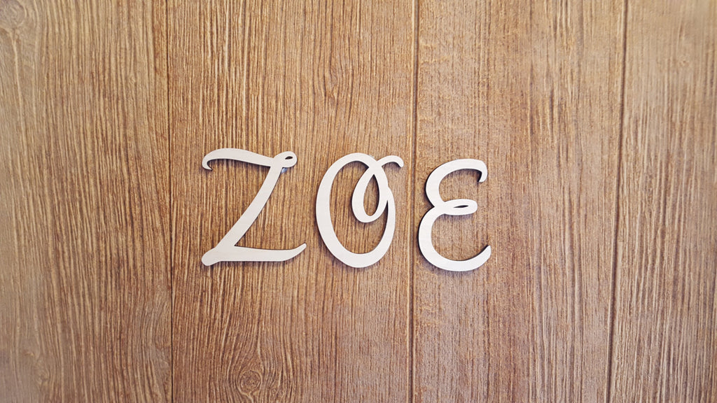 Disney Like Wood Letters
