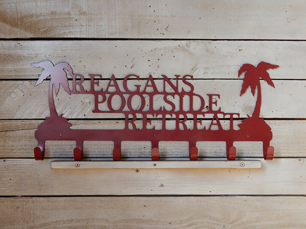 Palm Tree Towel Rack
